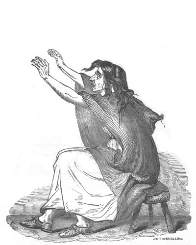 Keening woman. From Ireland, Its Scenery, Character, &c, by Mr & Mrs S. C. Hall (London, 1841-3).