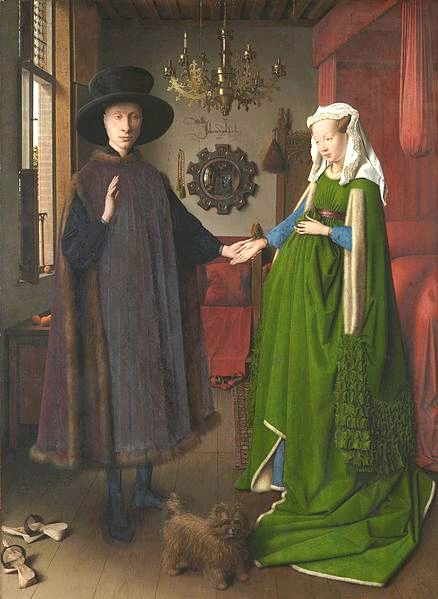 Jan Van Eyck, Arnolfini Portrait, 1434.  National Gallery, London.