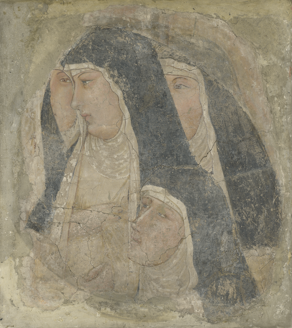 Ambrogio Lorenzetti, A Group of Poor Clares (c.1336-1340) © The National Gallery